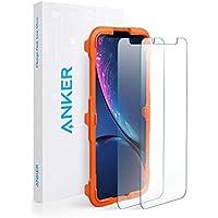 【改善版】【2枚セット / 専用フレーム付属】Anker GlassGuard iPhone XR用 強化ガラス液晶保護フィルム 【硬度9H / 簡単貼付】