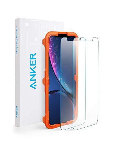 【2枚セット / 専用フレーム付属】Anker GlassGuard iPhone XR用 強化ガラス液晶保護フィルム 【硬度9H / 簡単貼付】