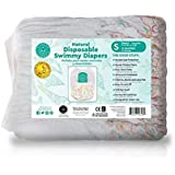 Little Toes Natural Disposable Swimmy Diapers (Small, 12 Count)