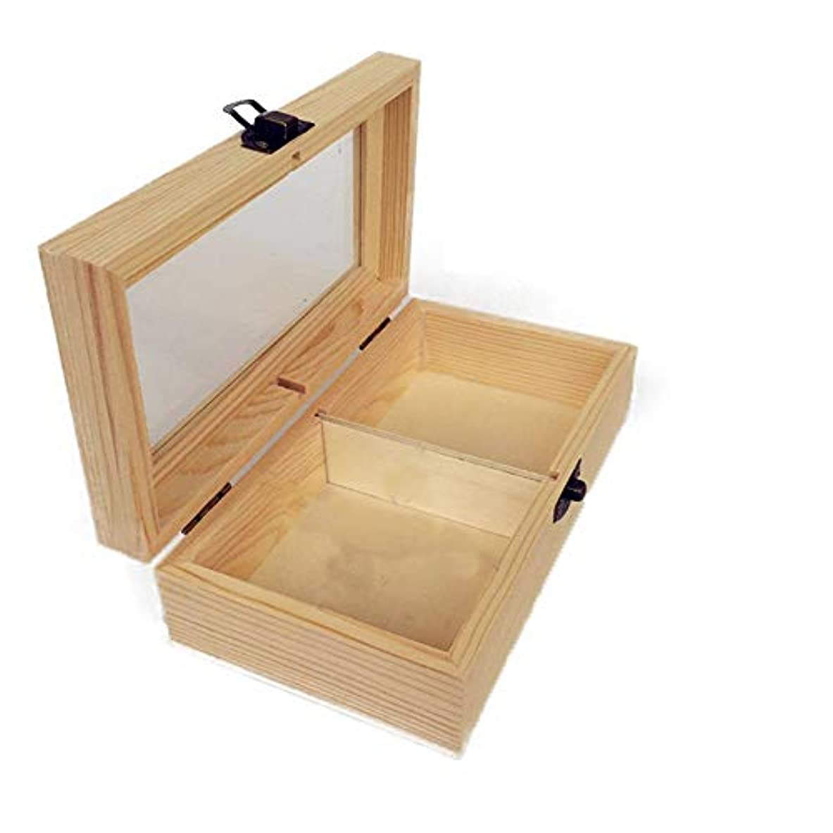 メトリック上陸ソフィープレゼンテーションのために手作りの木製ギフトボックスパーフェクトエッセンシャルオイルケースにエッセンシャルオイルは、被害太陽光からあなたの油を保護します アロマセラピー製品 (色 : Natural, サイズ : 18X10X5.5CM)