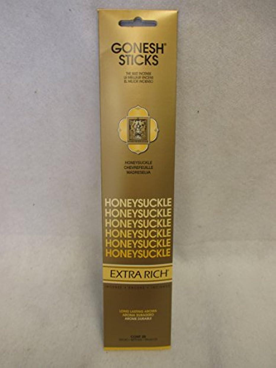 ショルダー科学狭いGonesh Extra Rich Incense Sticksスイカズラ12パックof 20 ( 240 Count )