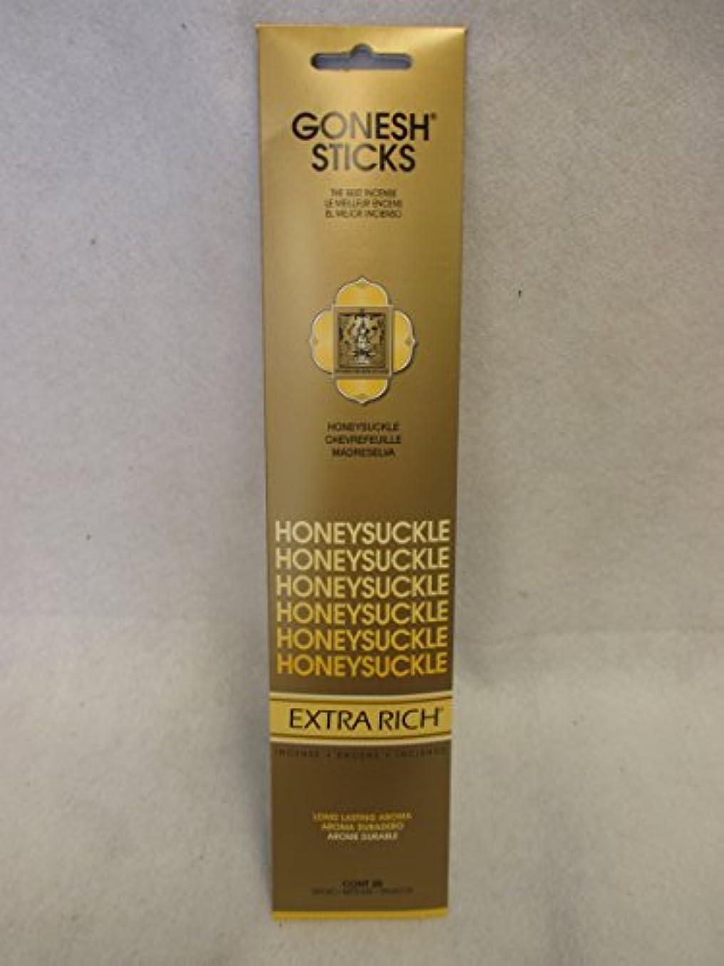 不規則な器官レガシーGonesh Extra Rich Incense Sticksスイカズラ12パックof 20 ( 240 Count )