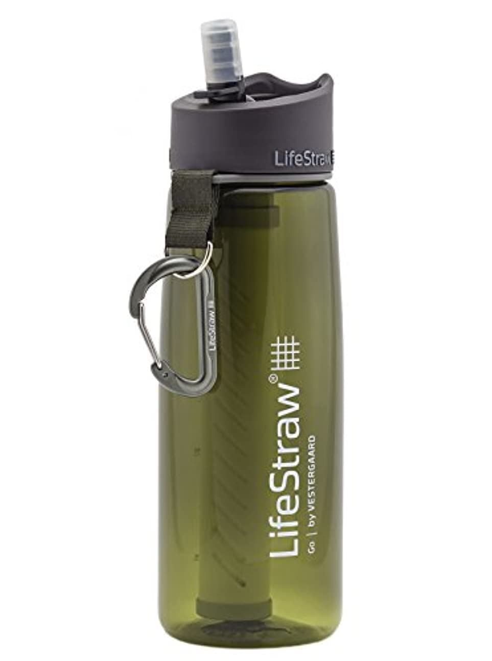 暴行依存する宣言LifeStraw ハイキング、バックパッキング、旅行のための2ステージ統合フィルターストローを持つウォーターフィルターボトル、