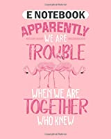 E Notebook: flamingo bird together  College Ruled - 50 sheets, 100 pages - 8 x 10 inches