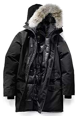 (カナダグース)CANADA GOOSE メンズのスタイル 2062M Langford Parka パーカー ダウンジャケット コート ブラック ネイビー ブラックマーク (ブラック(ブラックマーク), L) [並行輸入品]