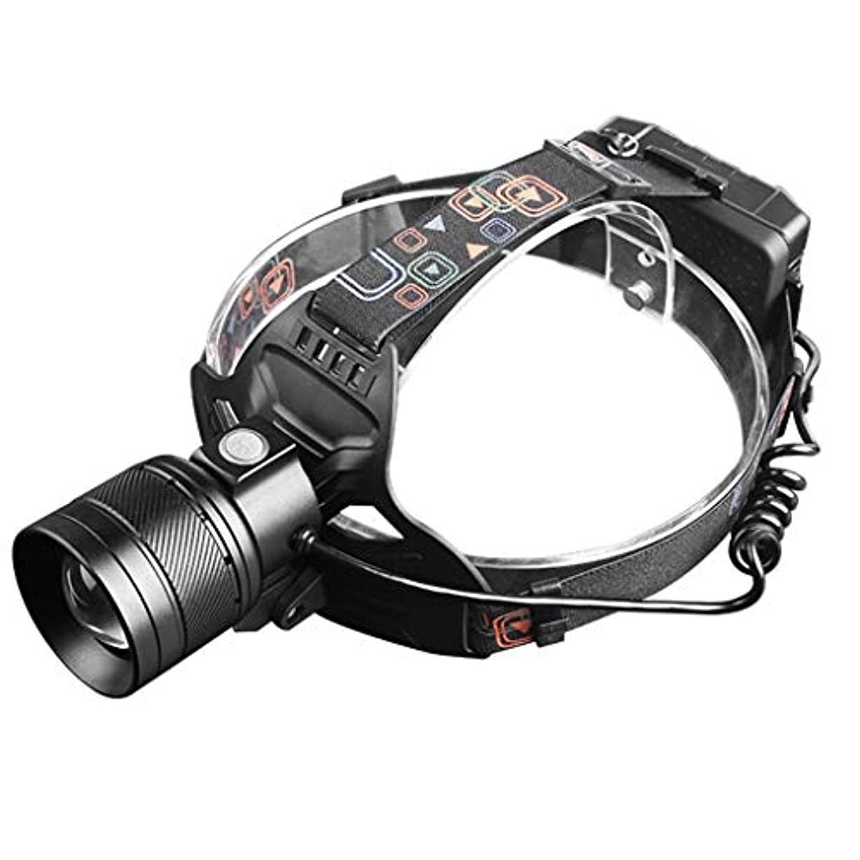 漂流引用漁師ヘッドライト 強いヘッドライト屋外の夜釣り充電ズーム超高輝度ヘッドマウント懐中電灯 LEDヘッドライト