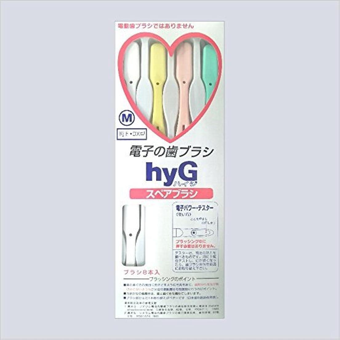 商標正しい考えた電子の歯ブラシ ハイジ(hyG)?スペアブラシ <ブラシの硬さ:Hかため> (※こちらは「スペアブラシ」です )?hyG-DX型