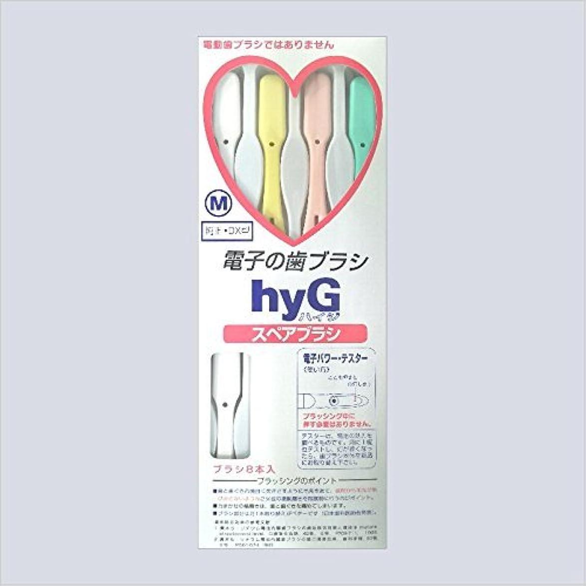 崖ローブボイコット電子の歯ブラシ ハイジ(hyG)?スペアブラシ <ブラシの硬さ:Mふつう> (※こちらは「スペアブラシ」です )?hyG-DX型