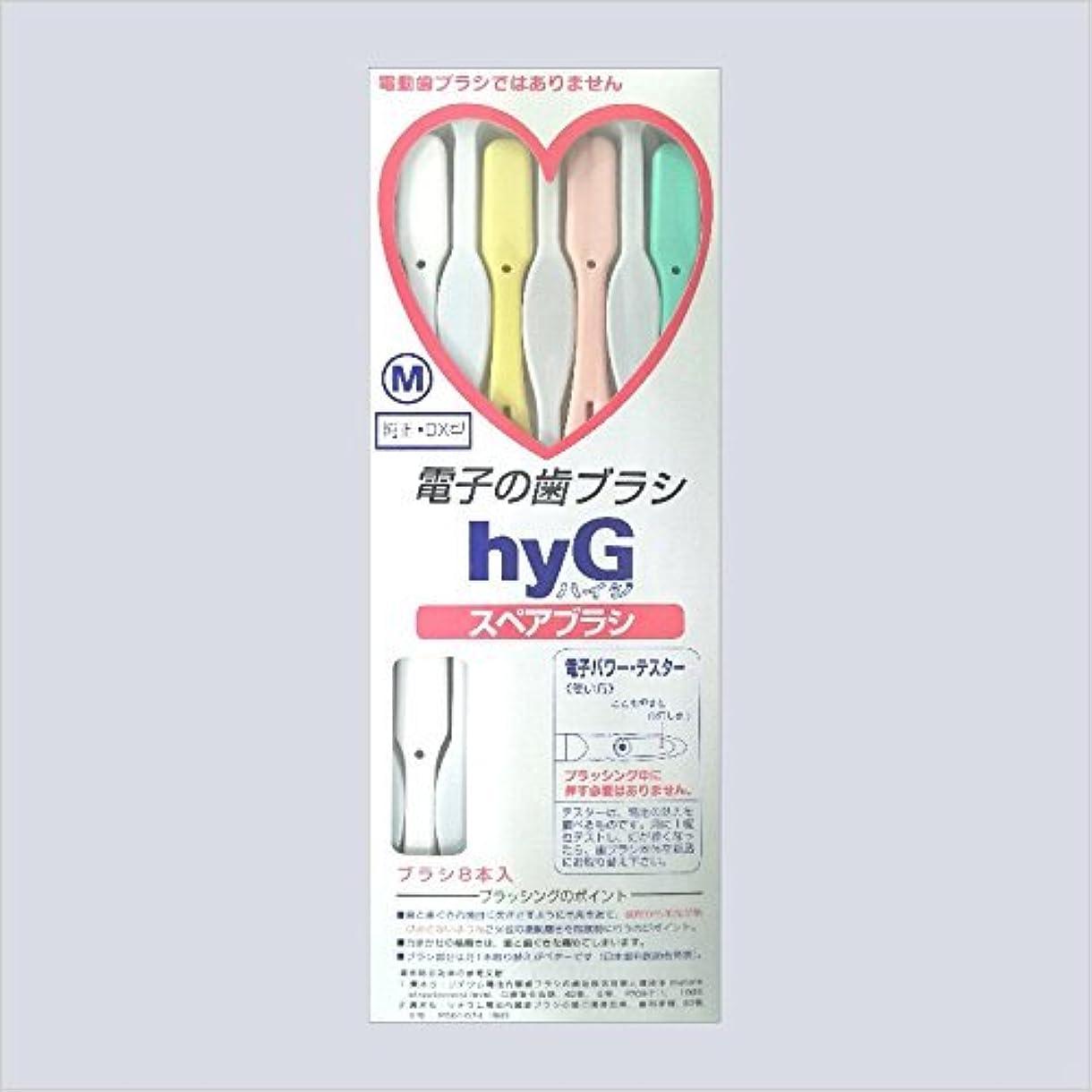 事業非武装化暖かさ電子の歯ブラシ ハイジ(hyG)?スペアブラシ <ブラシの硬さ:Mふつう> (※こちらは「スペアブラシ」です )?hyG-DX型