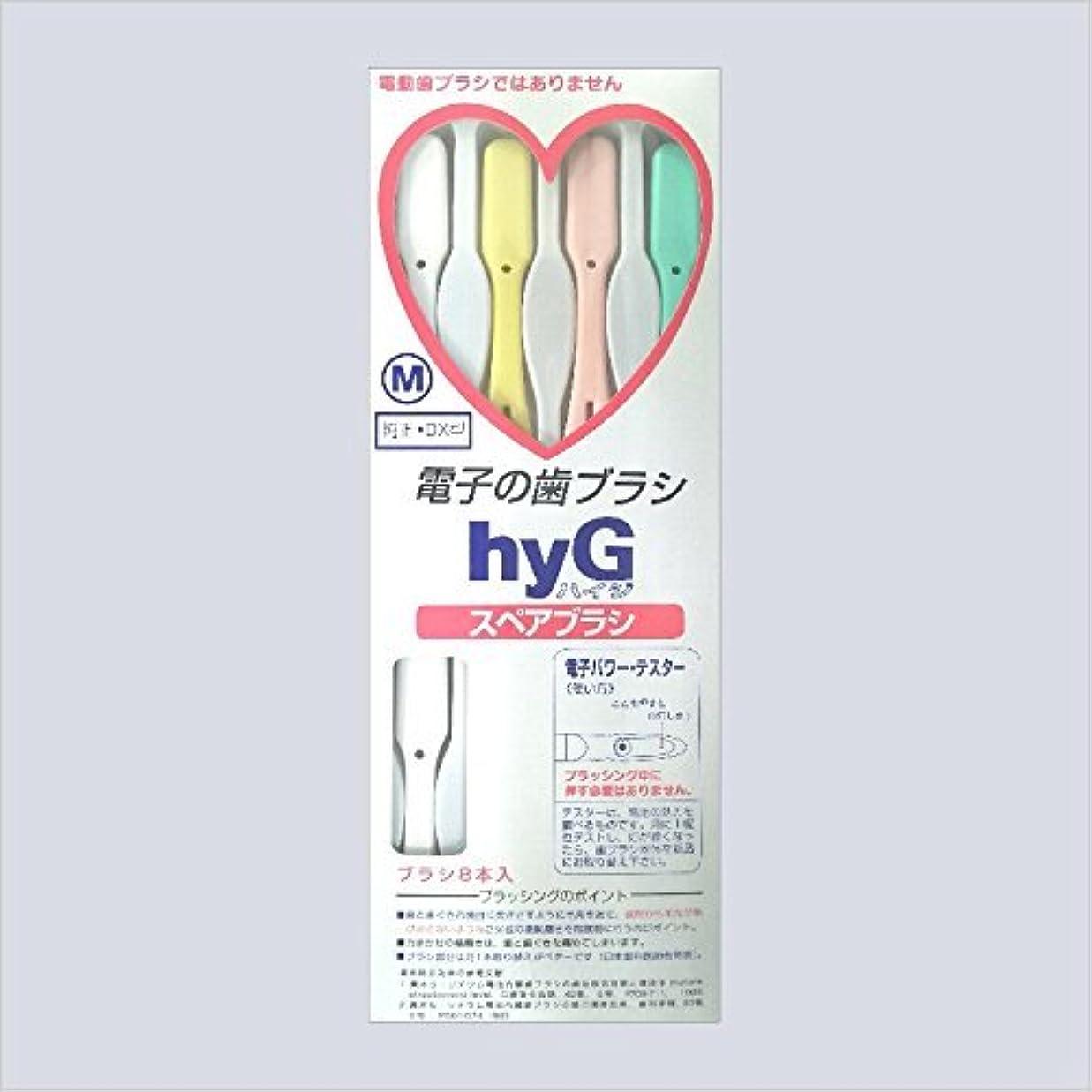 行動変化酸っぱい電子の歯ブラシ ハイジ(hyG)?スペアブラシ <ブラシの硬さ:Mふつう> (※こちらは「スペアブラシ」です )?hyG-DX型