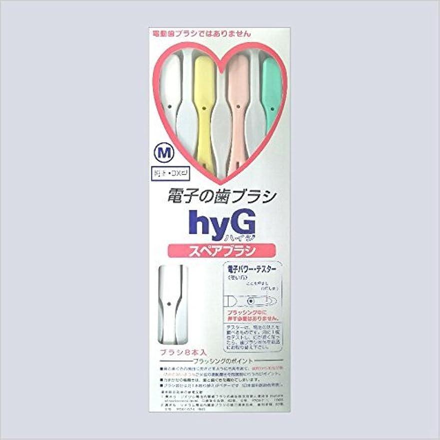 脳にはまって融合電子の歯ブラシ ハイジ(hyG)?スペアブラシ <ブラシの硬さ:Mふつう> (※こちらは「スペアブラシ」です )?hyG-DX型