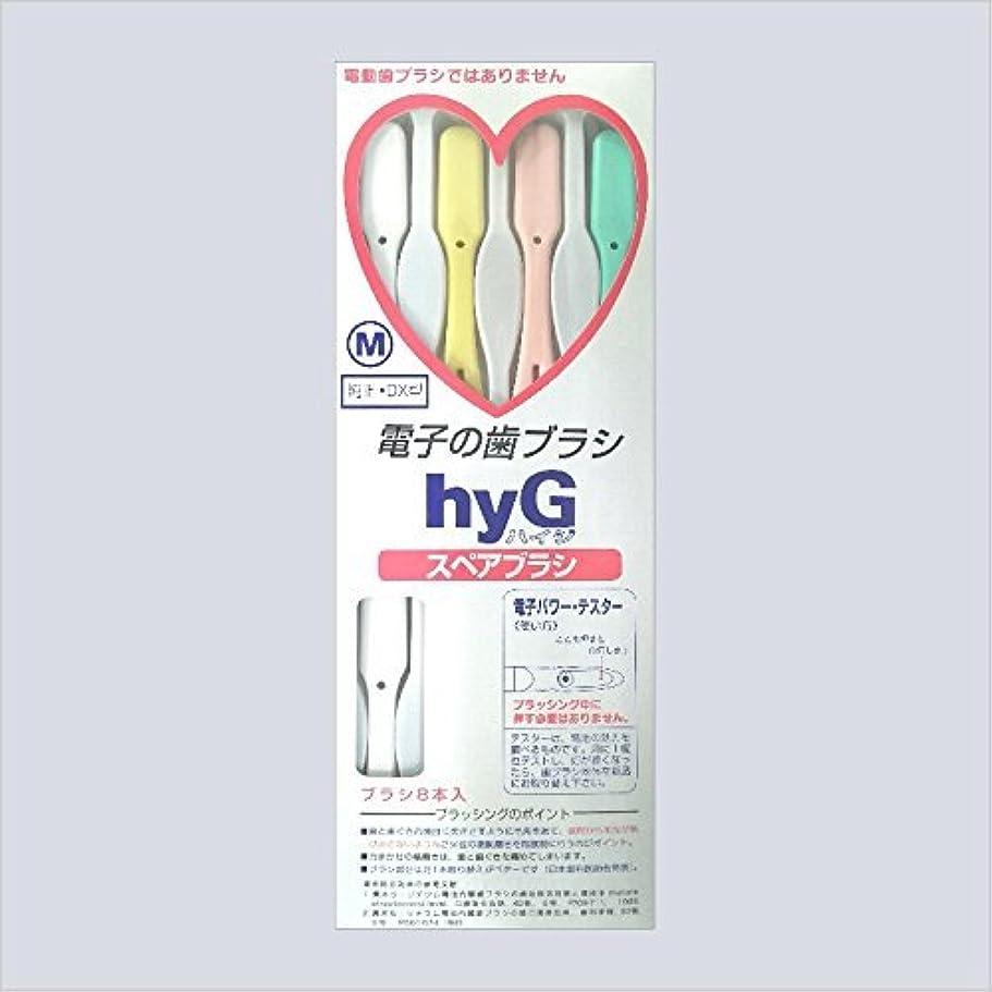 後ろに不信動脈電子の歯ブラシ ハイジ(hyG)?スペアブラシ <ブラシの硬さ:Hかため> (※こちらは「スペアブラシ」です )?hyG-DX型