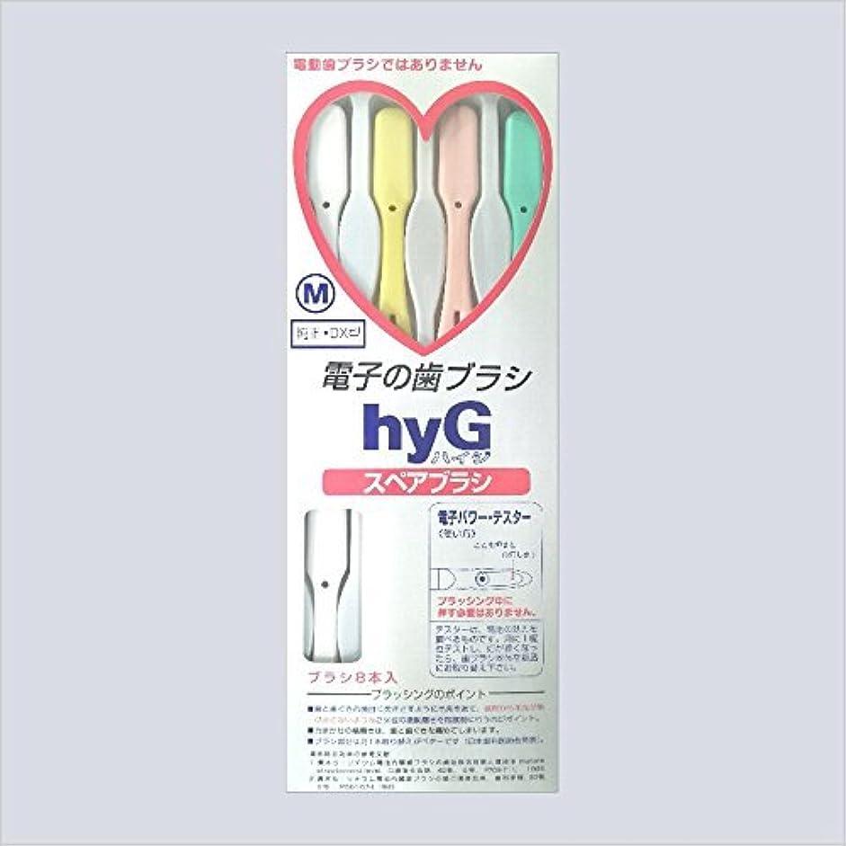 も風が強い医師電子の歯ブラシ ハイジ(hyG)?スペアブラシ <ブラシの硬さ:Mふつう> (※こちらは「スペアブラシ」です )?hyG-DX型