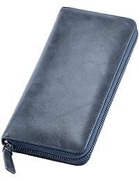 [Mandiva] 長財布 本革 メンズ ラウンドファスナー 大容量 財布