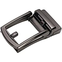 Prettyia Men Ratchet Alloy Leather Belt Buckle Replacement, Rectangular Automatic Slide Buckle for DIY Crafts Belts Making or Repair