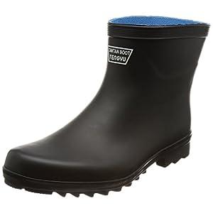 [富士手袋工業] 長靴 作業靴 レインシューズ たんたんブーツ ショート 3E 9962 BLACK LL