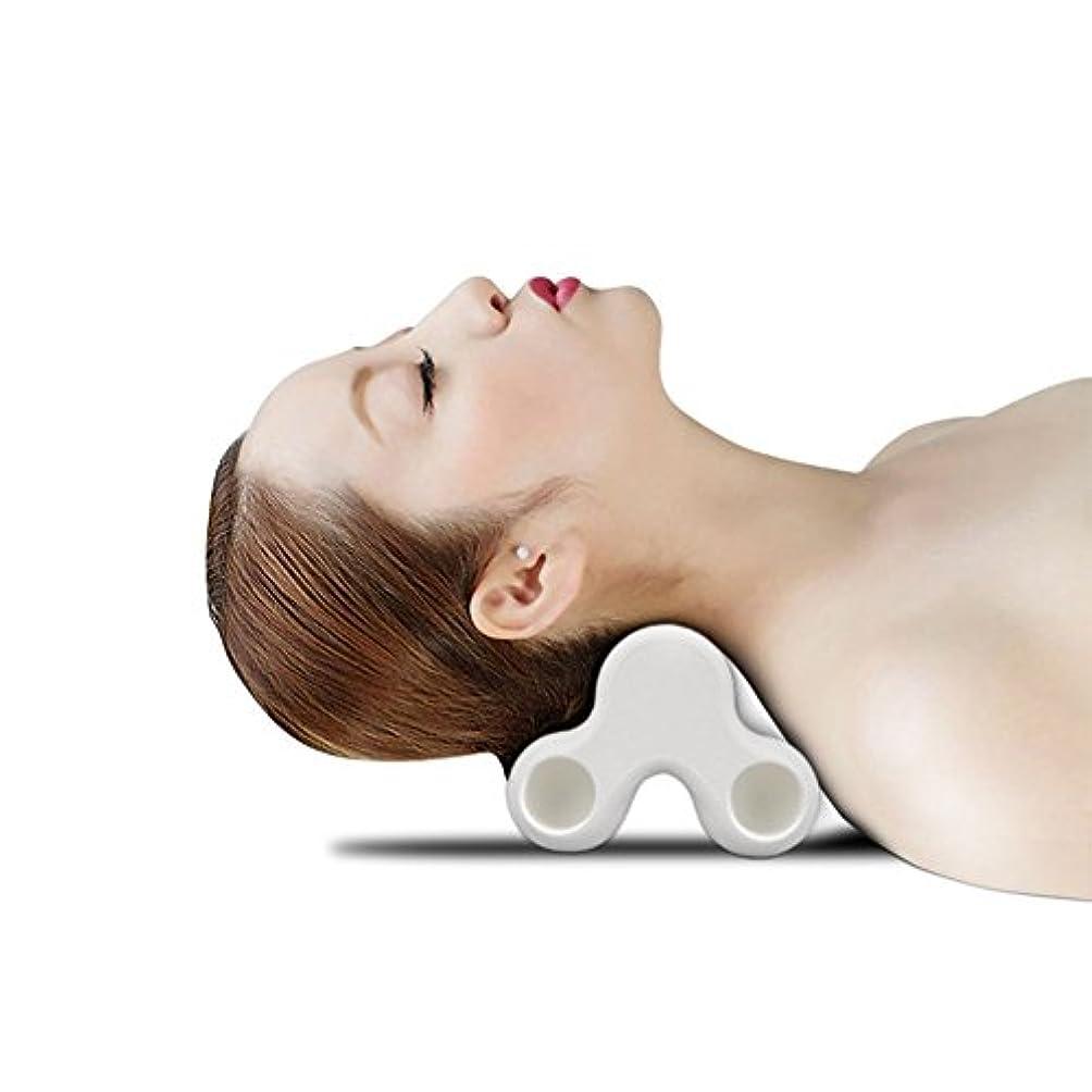 宣伝ウェーハ八SYNC ツボ押し グリグリ 強力 マッサージ 枕 指圧感 ピロー ツボ 多用途 (ホワイト)