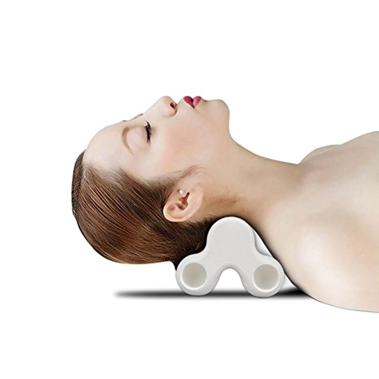 空白でる動SYNC ツボ押し グリグリ 強力 マッサージ 枕 指圧感 ピロー ツボ 多用途 (ホワイト)