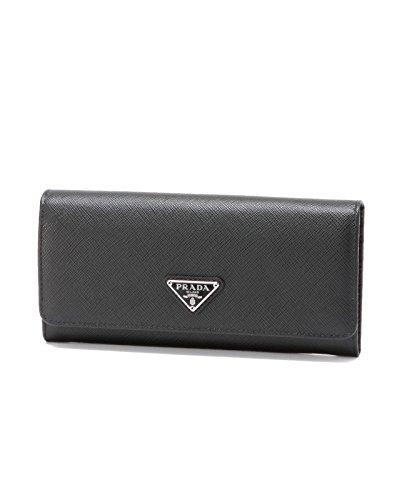 (プラダ) PRADA 二つ折り長財布 NERO 1 ブラック 1MH132 QHH F0632 [並行輸入品]
