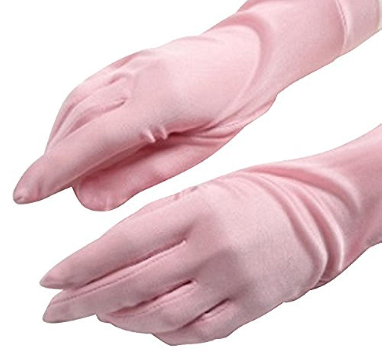 直感神の国家CREPUSCOLO 手荒れ対策! シルク手袋 おやすみ 手袋 保湿ケア UVカット ハンドケア シルク100% 全7色 (ピンク)