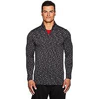 RBX Active Men's Striated Zip-up Sweater Rubber Trim