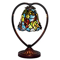 Bieye照明L20621 ステンドグラスランプ インテリアライト 贈り物 雰囲気作り 卓上照明 オシャレ 葡萄