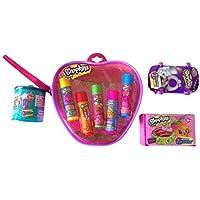 Shopkins Lip Balm Gift Set - with Food Fair, Fashion Spree, & Season 4 Shopkins