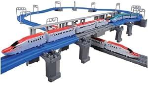 プラレール アドバンス E6系新幹線 連結&立体交差レールセット