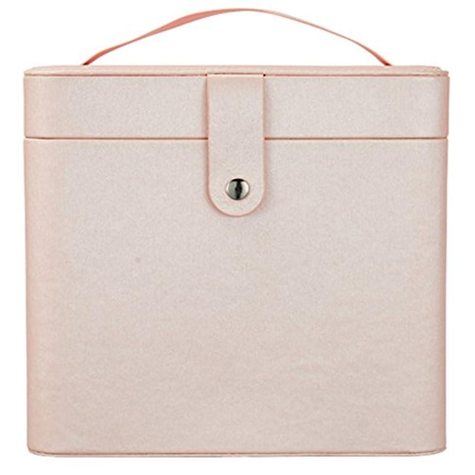バリアなめる攻撃的化粧オーガナイザーバッグ 裸のピンクのポータブル化粧品バッグ、美容メイクアップ用の小さなものの種類の旅行のための化粧鏡 化粧品ケース