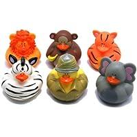 Safari Rubber Duckies : package of 12 [並行輸入品]