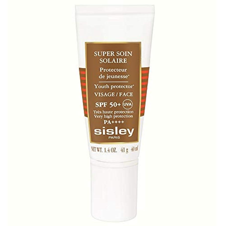 吸収する群がるヘルシー[Sisley] シスレースーパーSoinフェイシャル日クリームSpf50 + 40ミリリットル - Sisley Super Soin Facial Sun Cream Spf50+ 40ml [並行輸入品]