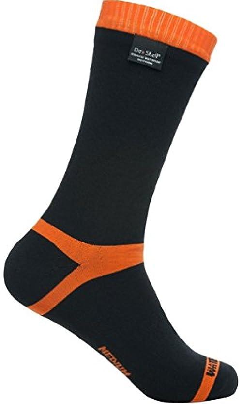 達成するじゃがいもアプローチDexShell(デックスシェル) 防水通気靴下 Hytherm Pro socks (ハイ サーモ プロソックス) DS634 オレンジストライプ