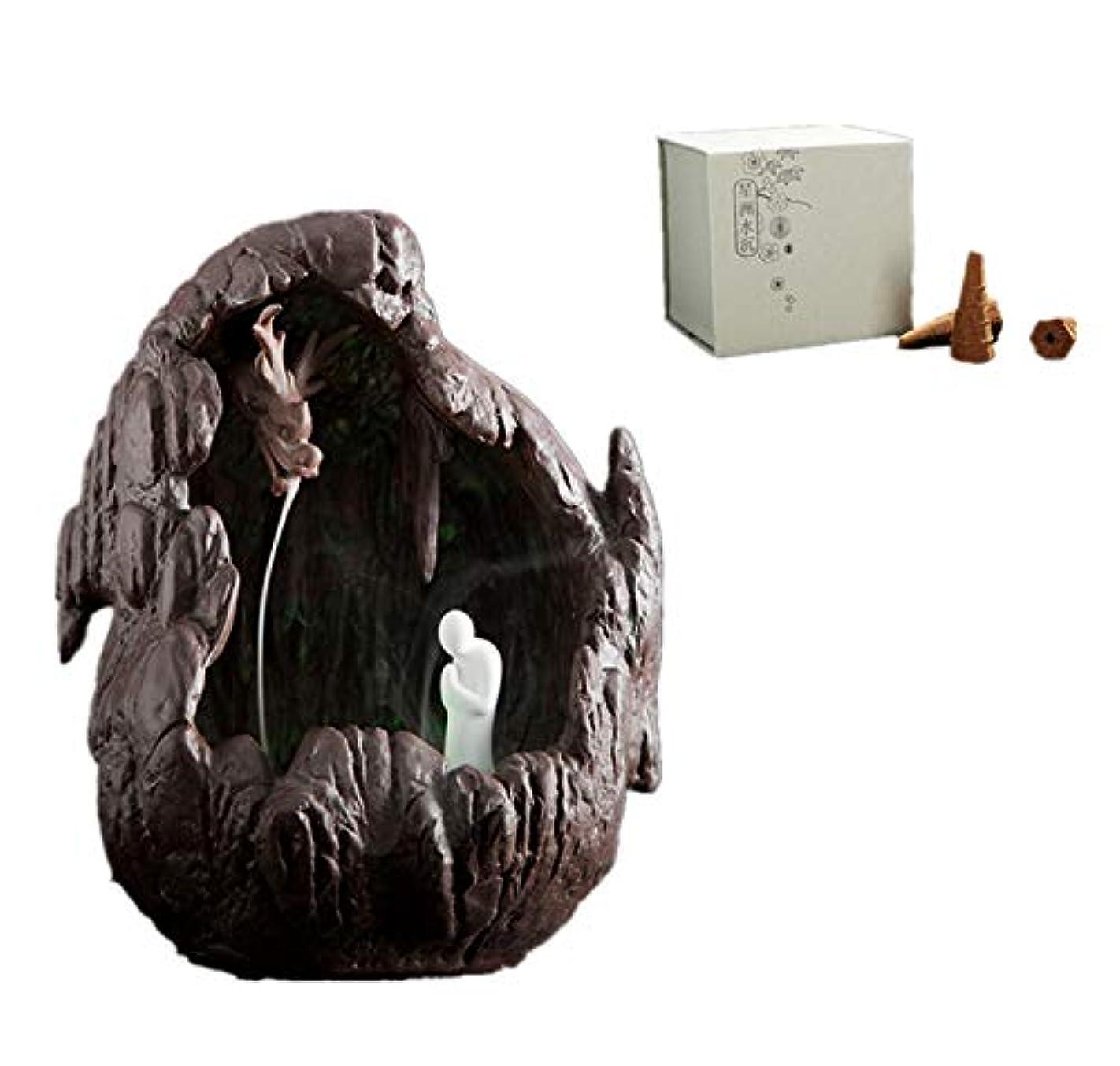 歯痛バランス若者XPPXPP Reflux Incense Burner, Ceramic Incense Burner, With 40pcs Reflux Cone, Suitable For Home Decoration