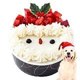 犬 クリスマスケーキ(サンタ・犬用クリスマスケーキ 単品) 無添加