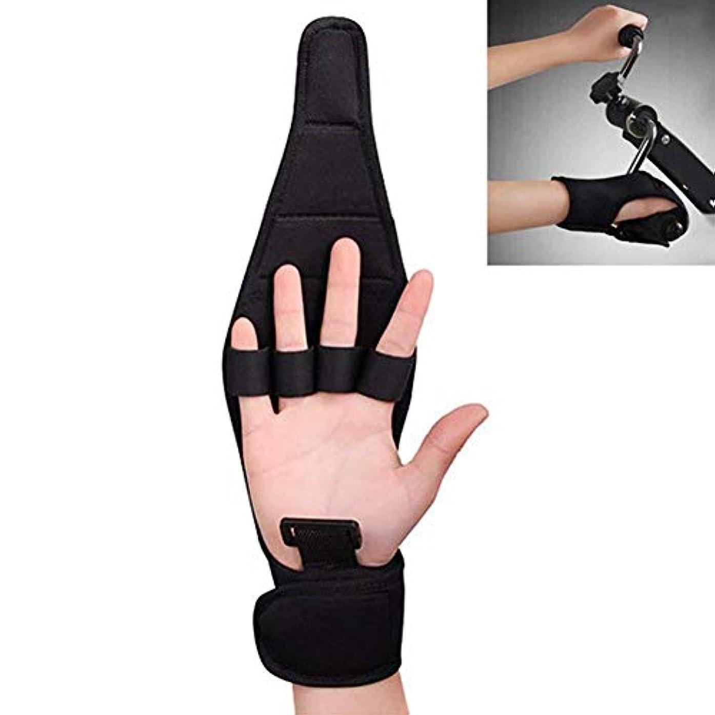 定常悪性のホステストリガーフィンガースプリント、関節炎グローブセパレーターでのトレーニングサポートをサポート手装具手首の怪我リハビリテーショントレーニング,1PCS