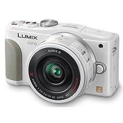 Panasonic ルミックス デジタル一眼カメラ/レンズキット(14-42mm/F3.5-5.6電動標準ズームレンズ付属) ホワイト Wi-Fi®+NFC搭載 DMC-GF6X-W