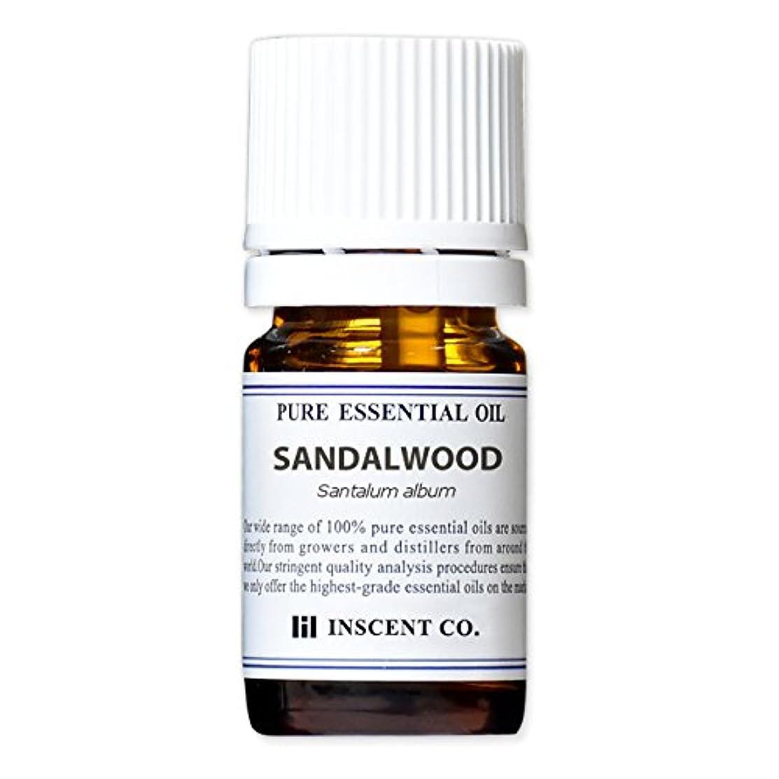 マダムしたがってずらすサンダルウッド (インド産) 5ml インセント アロマオイル AEAJ 表示基準適合認定精油