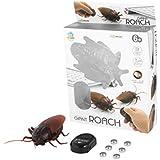 赤外線IRリモートコントロールゴキブリ現実的な偽のゴキブリRC発光いたずら玩具ジョーク怖いトリックバグクリスマスパーティー - ブラウン-1サイズ