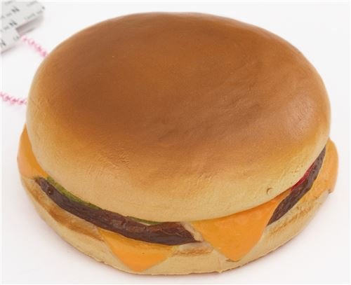可愛いチーズバーガースクイーズチャーム Cafe de N 携帯チャーム