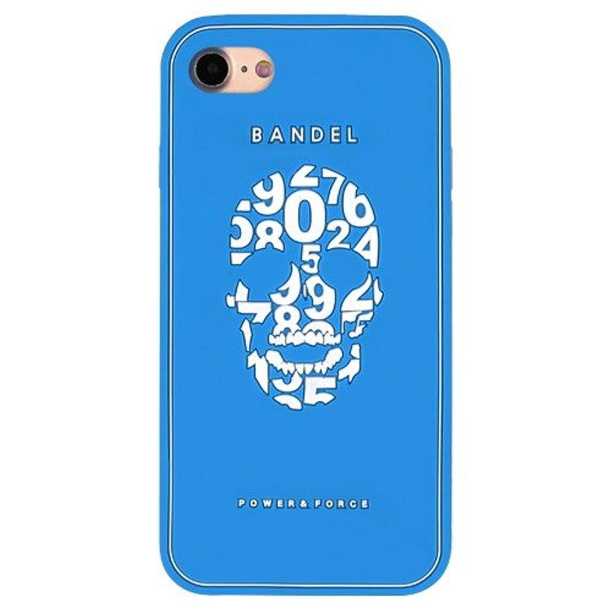 宿泊施設びっくりした多様なバンデル(BANDEL) スカル iPhone 7専用 シリコンケース [ブルー]