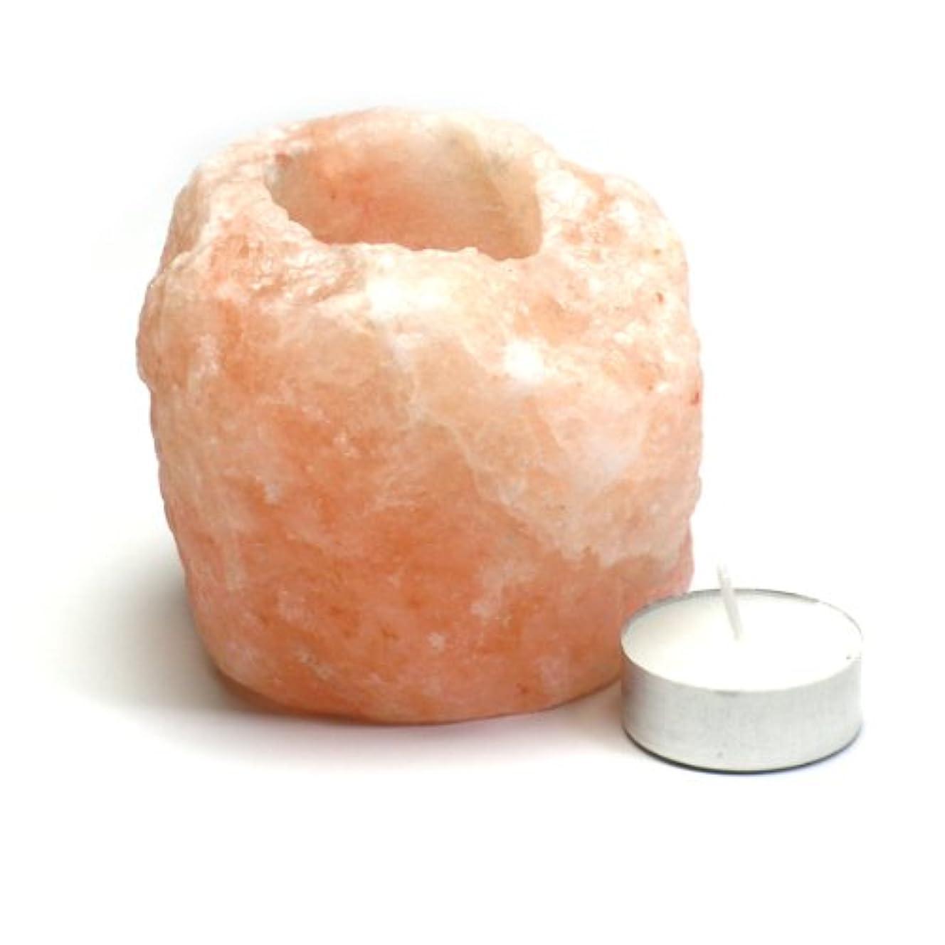 カリキュラムメタン読書をするヒマラヤ岩塩 キャンドルホルダー1~1.4kg ピンクソルトキャンドルスタンド ティーライト用 ランタン