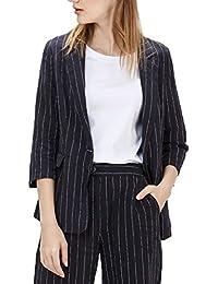 レディース パンツスーツ 9分丈パンツ スリム 2点セット ストライプ オシャレ ビジネス ファッション
