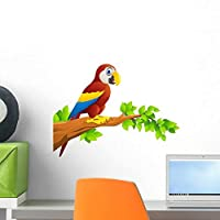 Macaw Bird Wall Decal by Wallmonkeys Peel and Stick Graphic (18 in W x 13 in H) WM237779 [並行輸入品]