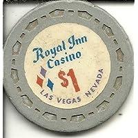 $ 1ロイヤルInnラスベガスカジノチップVintage Rareグレー