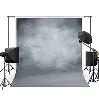 Allenjoy 5x7フィート ポリエステル デジタルプリント オールドマスター バックドロップ グランジー クラックストーン 壁 影 色落ち グレー モノクロ 背景 Portait写真や装飾用