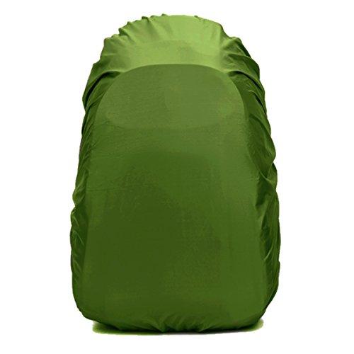 レインカバー リュックカバー 雨よけ ザックカバー 2倍防水 耐水压5000mm 落下防止のクロスバックル 収納袋付き 4サイズ(15L -70L) 5色 Frelaxy (アーミーグリーン, L (40-55L))