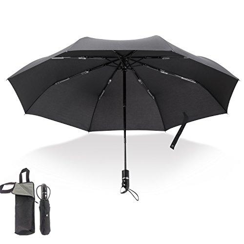 FUNATO 折り畳み傘 軽量の8本骨デザイン 350g 自動開閉 大判 Teflon加工 210T高密度ファブリック 耐風撥水 晴雨兼用 吸水繊維専用バッグ付きF-KS01