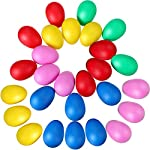 30個 プラスチックエッグシェイカーパーカッション音楽子供のための音楽おもちゃ子供幼児クラブ教会のグループスクール マラカス エッグシェーカー 5色