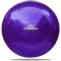 DABADA(ダバダ) バランスボール 直径65cm 空気入れ付 全5色 ダイエット 耐荷重(約)80kg 座るだけ ヨガボール エクササイズ ピラティス