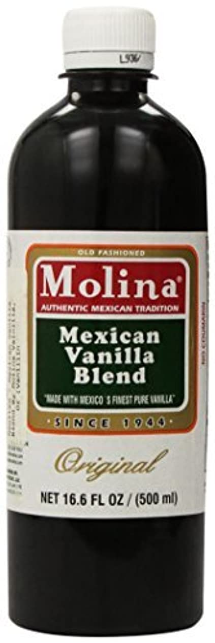 四回愚かガラスMexican Vanilla Blend By Molina Vainilla 16.6 Oz (Vanillin Extract) [並行輸入品]
